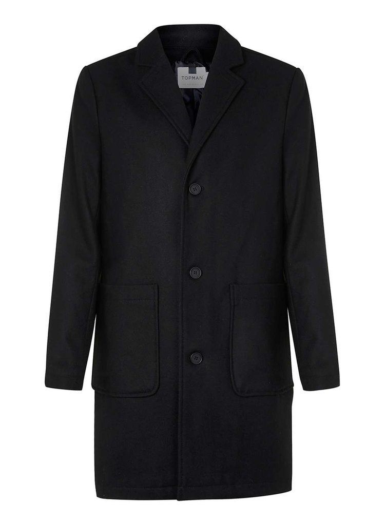Wool rich overcoat, £95 ( topman.com )