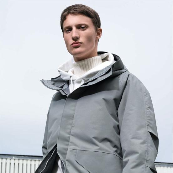 MEN U BLOCKTECH parka,£89.90 MEN U Cashmere blend turtle neck long sleeve sweater,£69.90