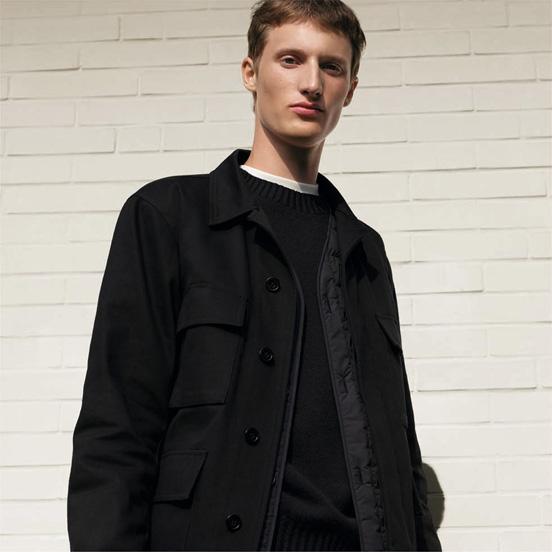 MEN U Work jacket, £59.90 MEN U Cashmere blend crew neck long sleeve sweater,£69.90 MEN U Regular fit colour jeans,£29.90