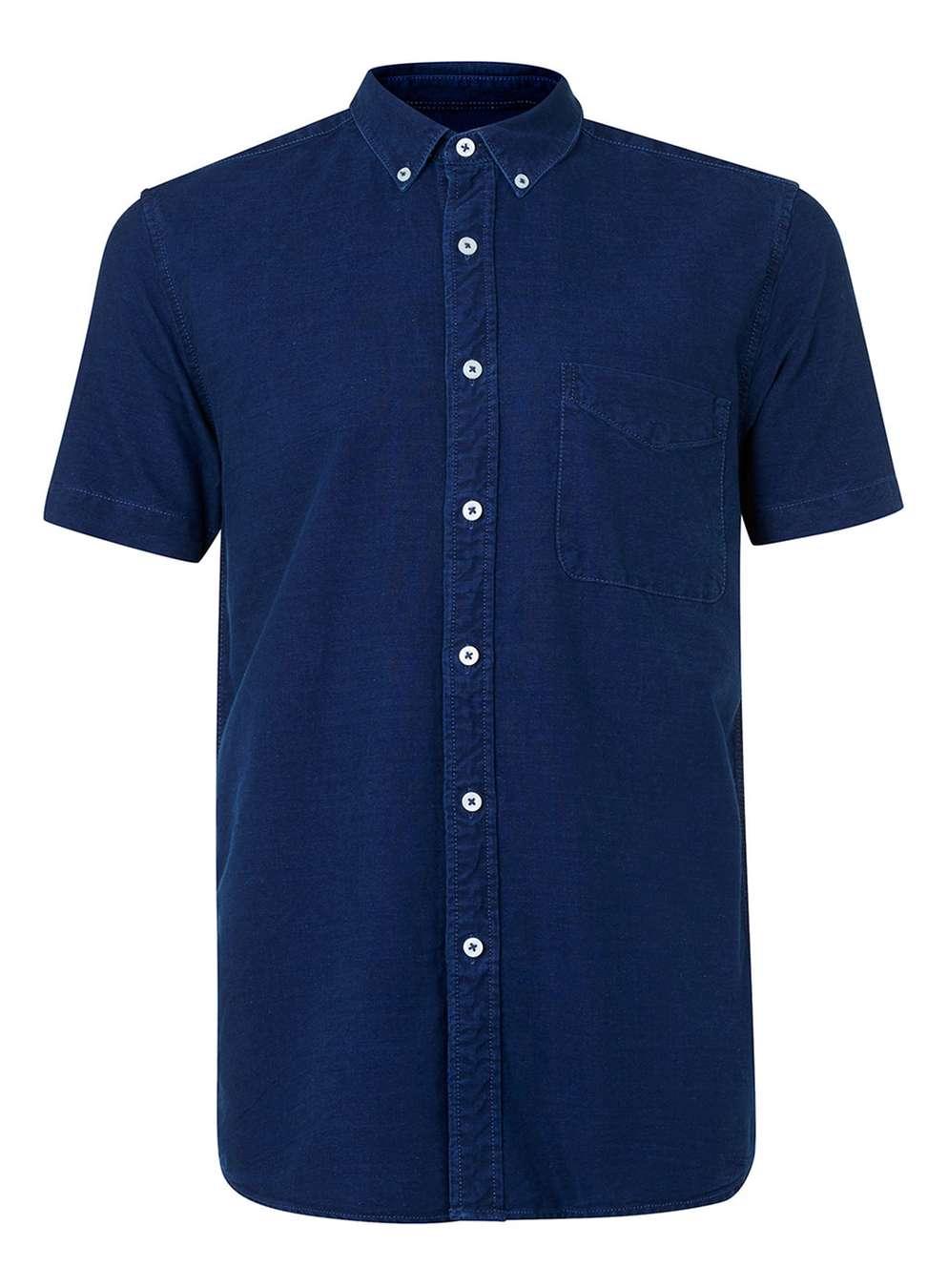 Denim short-sleeve casual shirt, £20 ( topman.com )