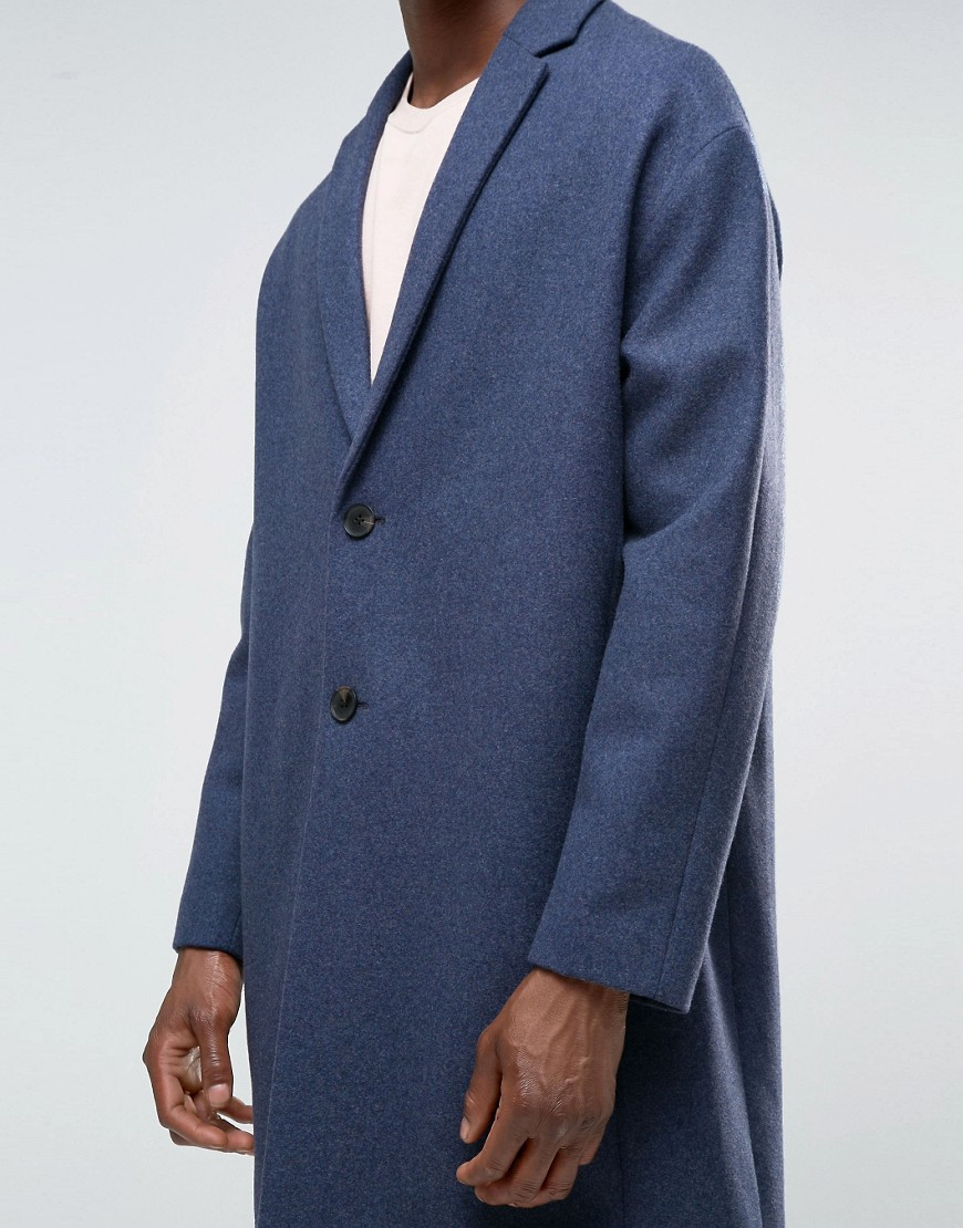 ASOS wool-mix overcoat with dropped shoulder, £90 ( ASOS.com )