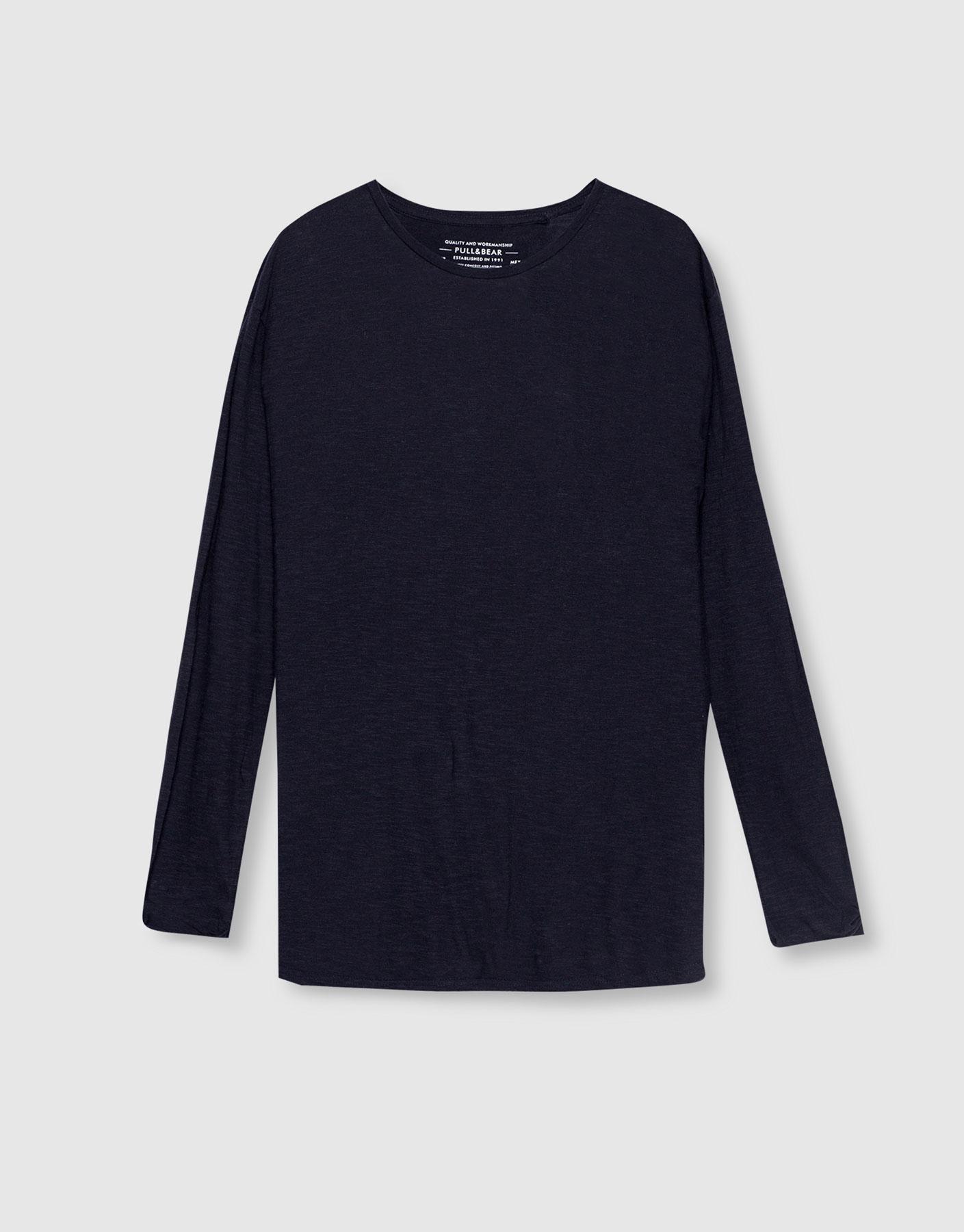 Basic long-sleeve t-shirt, £9.99 ( pullandbear.com )
