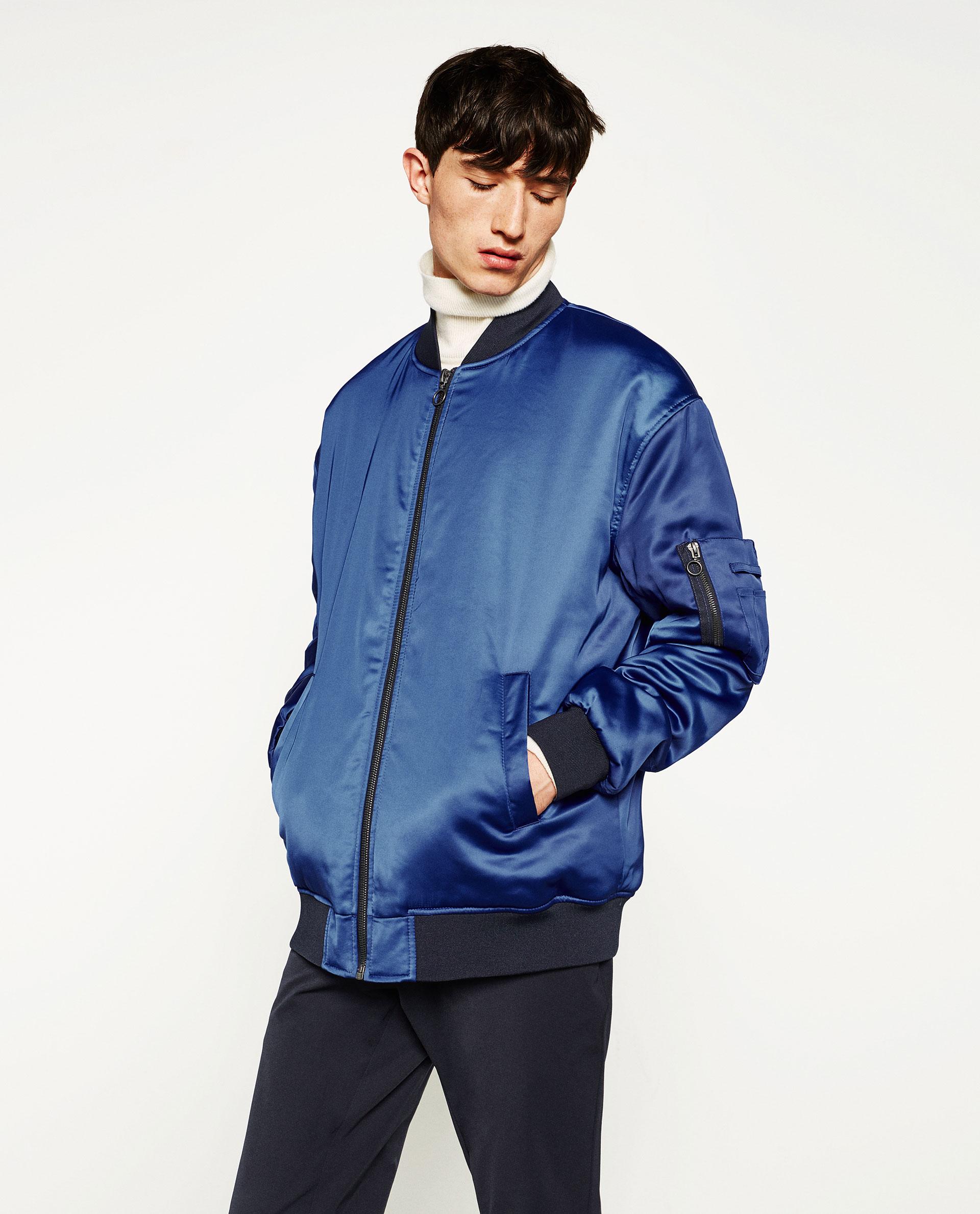 Oversized bomber jacket, £69.99 ( zara.com )