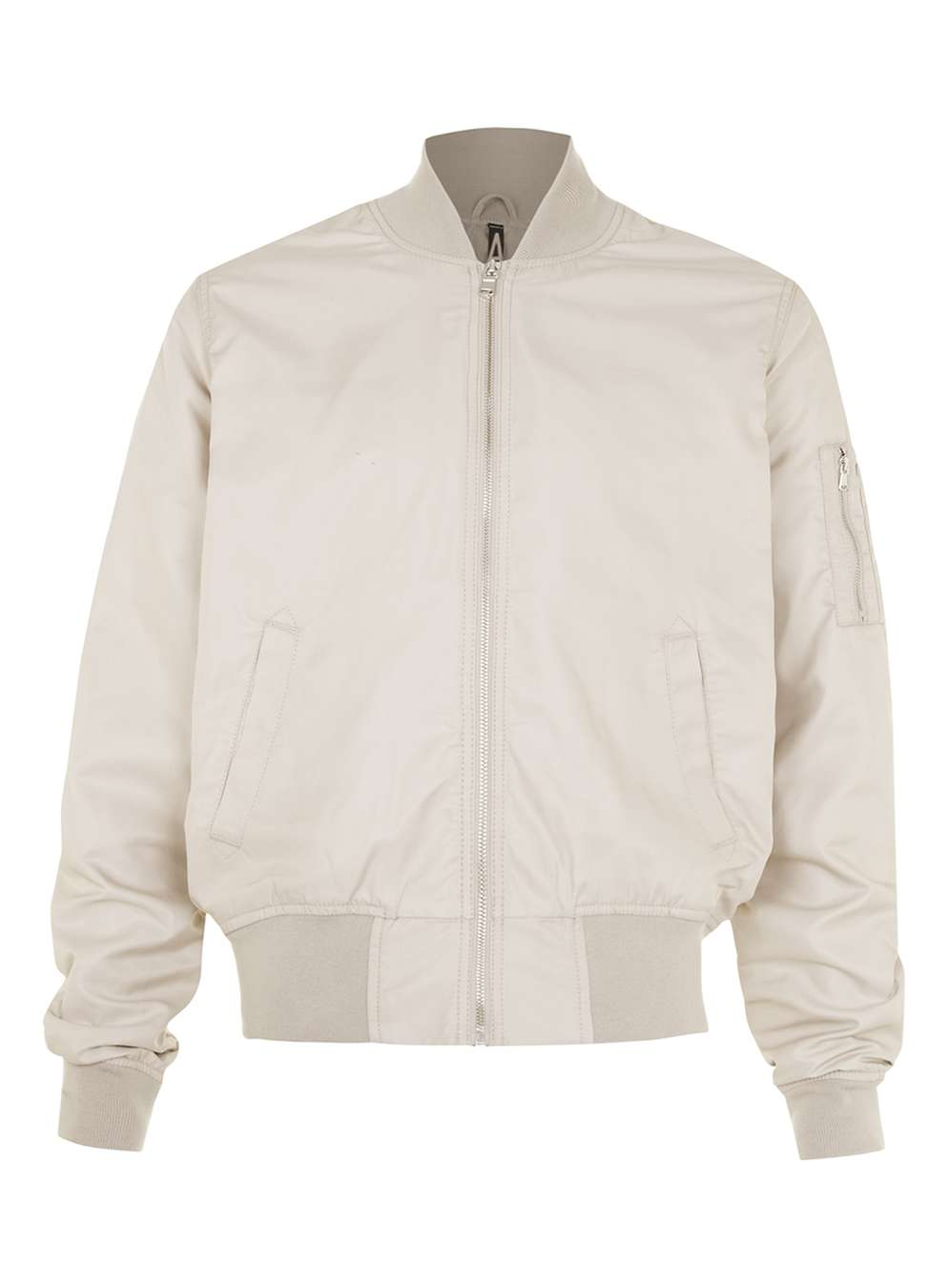 TOPMAN   AAA Stone Ruched Bomber Jacket , £65