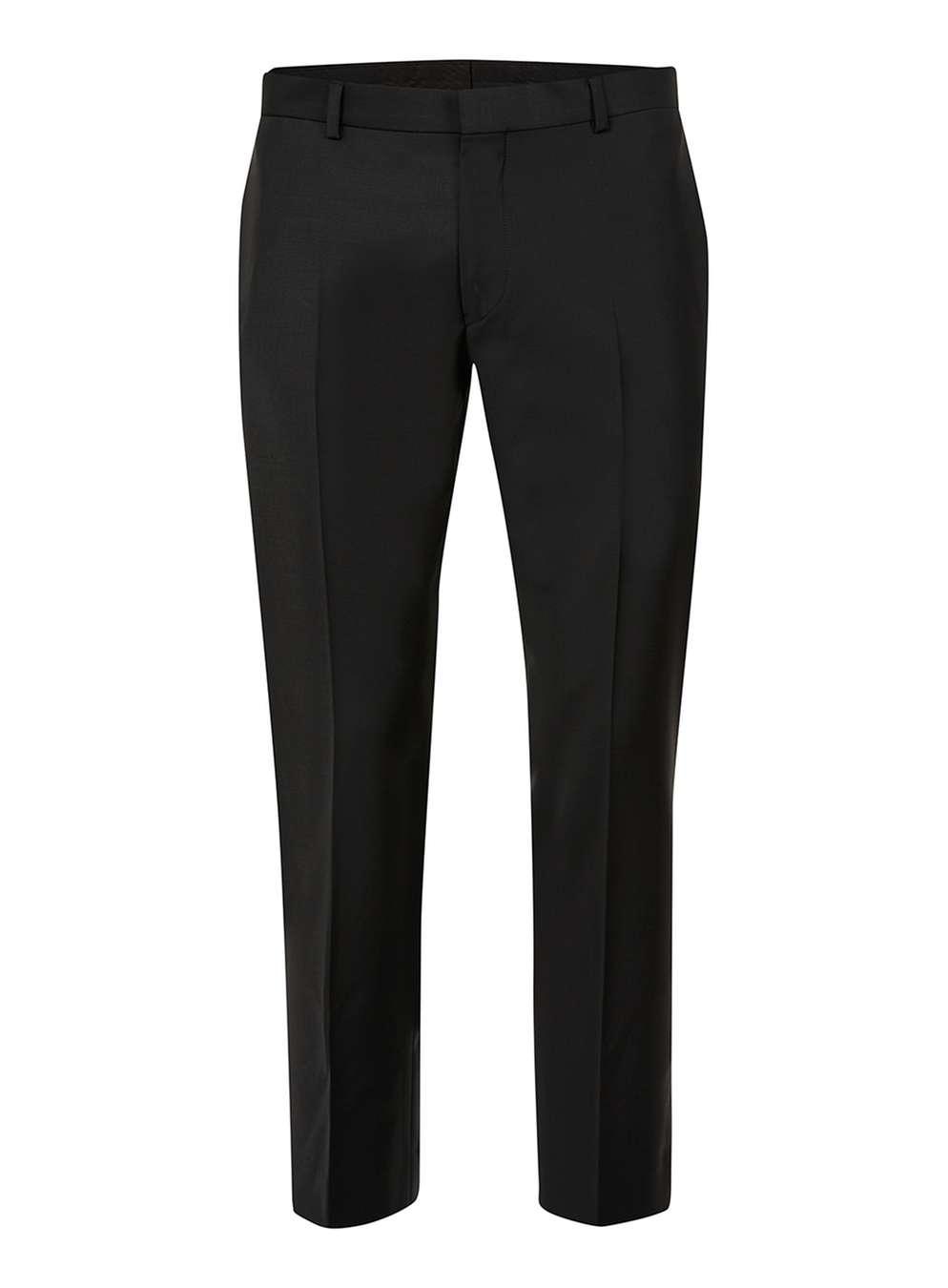 TOPMAN PREMIUM Black Wool Blend Cropped Trousers , £45