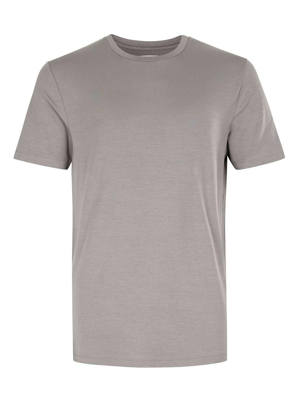TOPMAN PREMIUM Grey Slinky Soft T-Shirt , £20