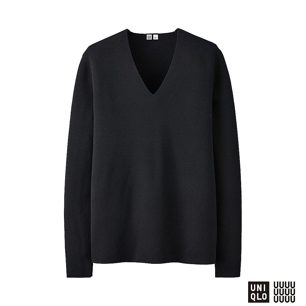 UNIQLO U Milano ribbed v-neck sweater, £39.90 ( uniqlo.com )