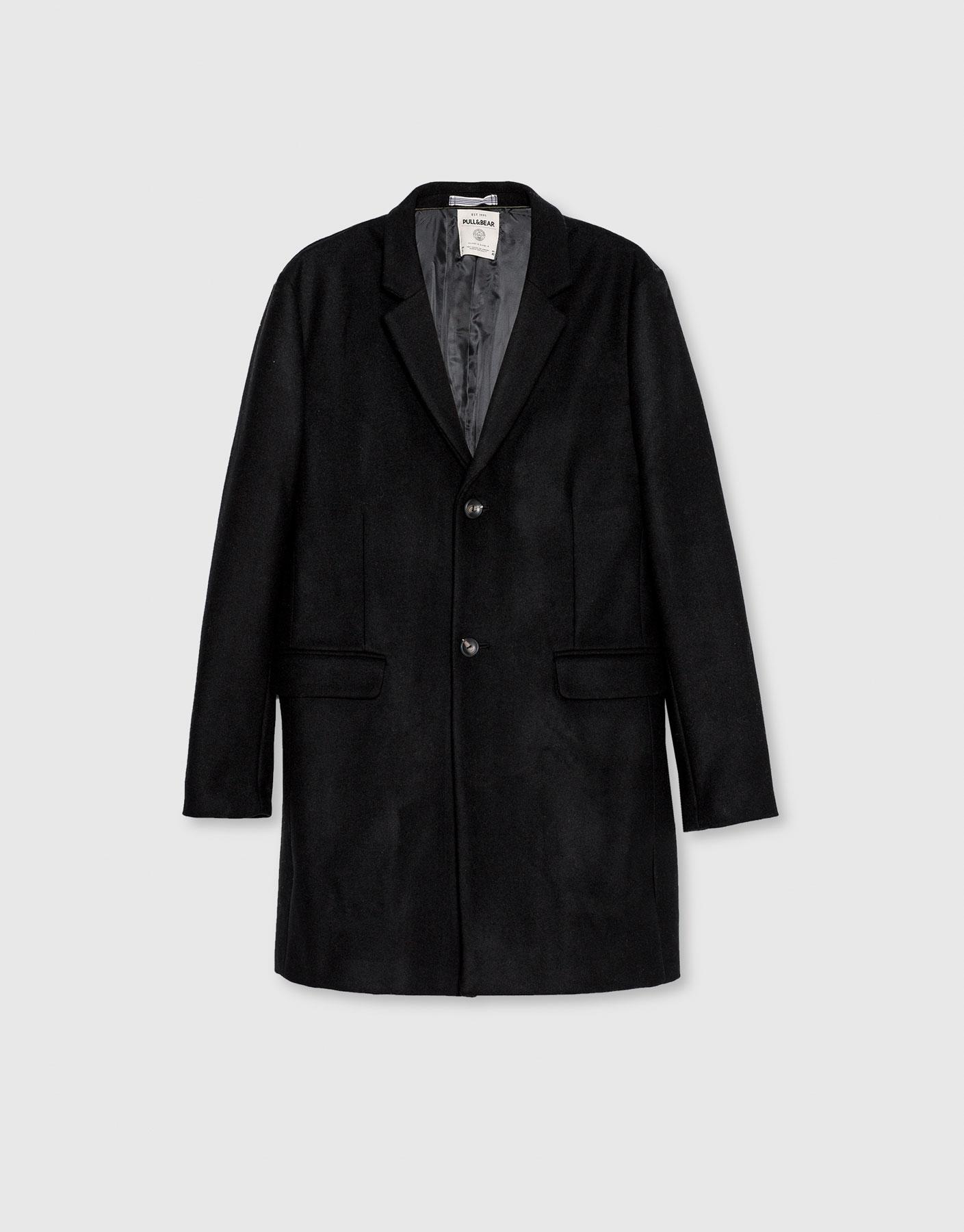 Basic wool coat, £69.99 ( pullandbear.com )