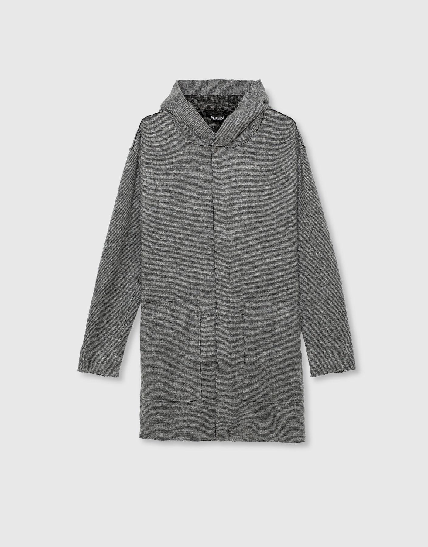 Flowing hooded coat, £49.99 ( pullandbear.com )