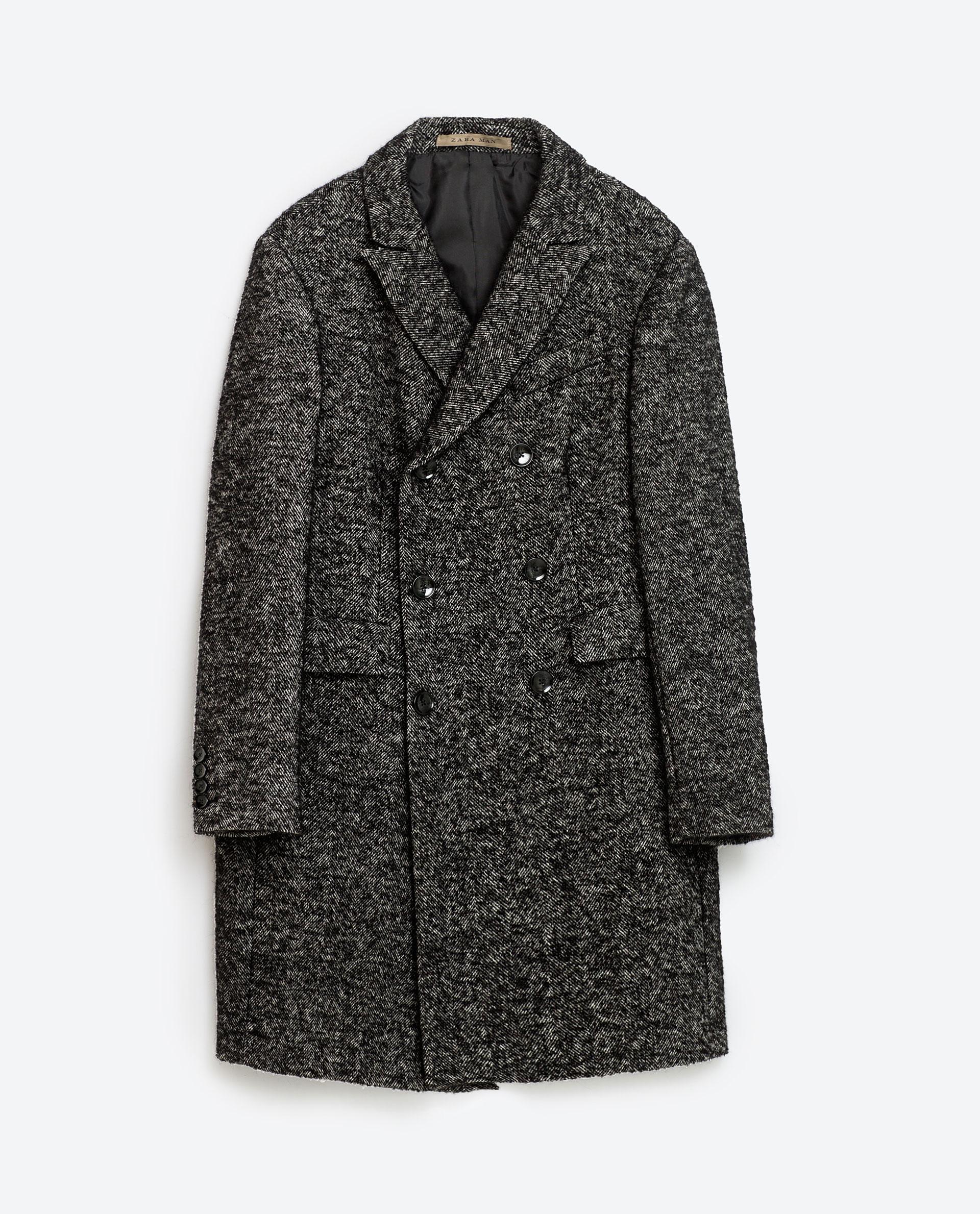 Herringbone coat, £159 ( zara.com )