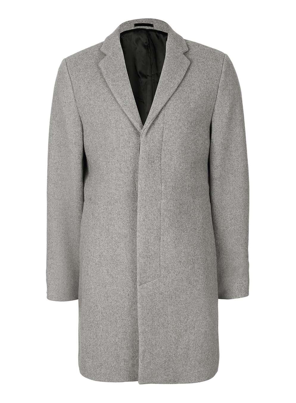 SELECTED HOMME Grey Wool Blend Coat, £200 ( topman.com )