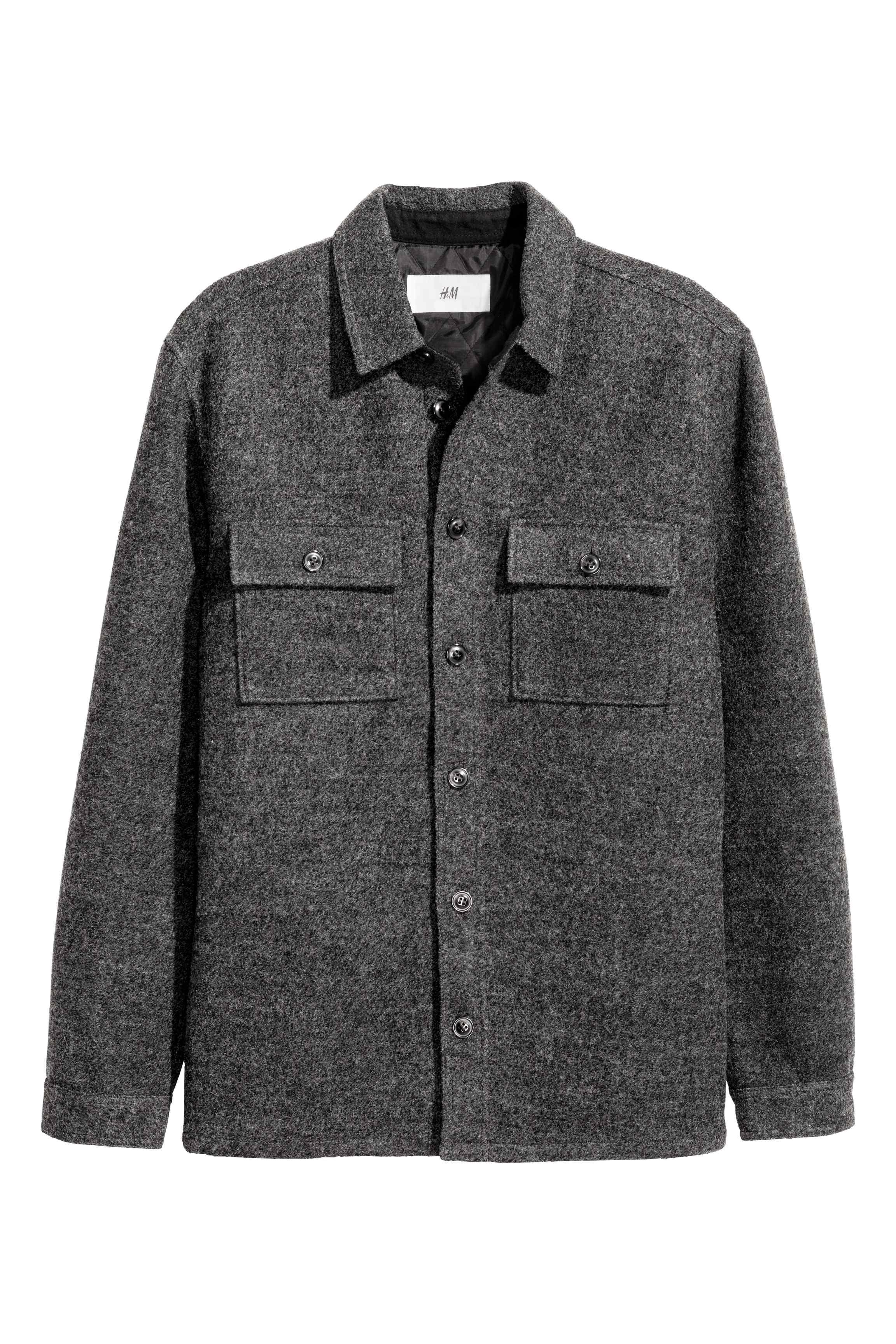 Wool-blend shirt jacket, £29.99 ( hm.com )