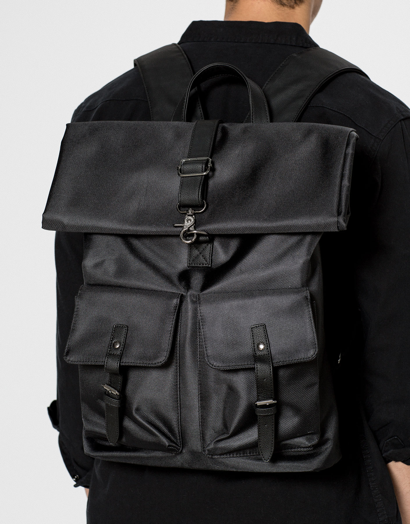 Black backpack , £29.99