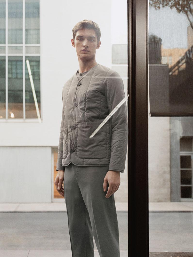Padded v-neck jacket , £99