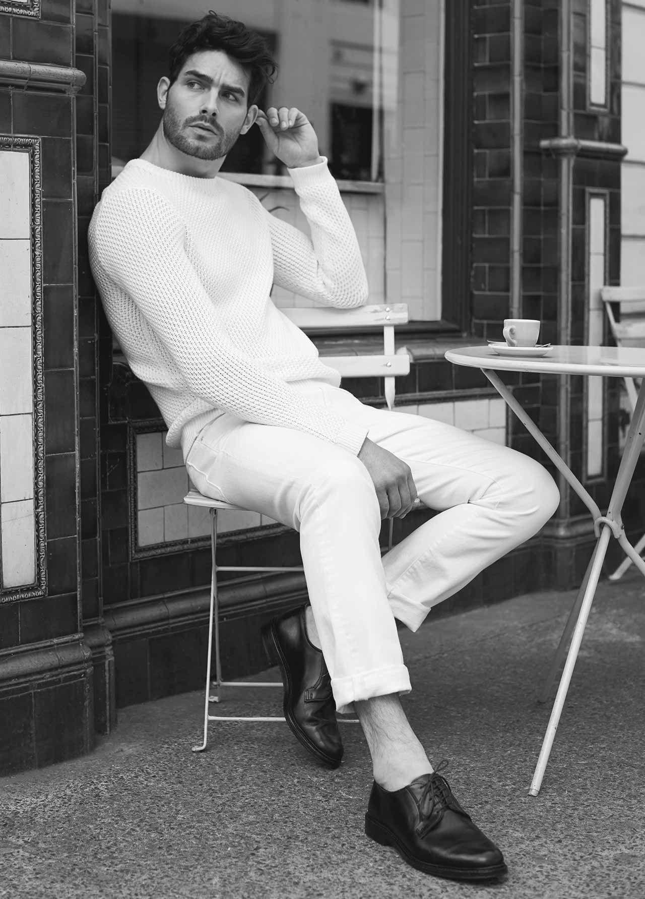 Pilot textured knitted jumper , £95
