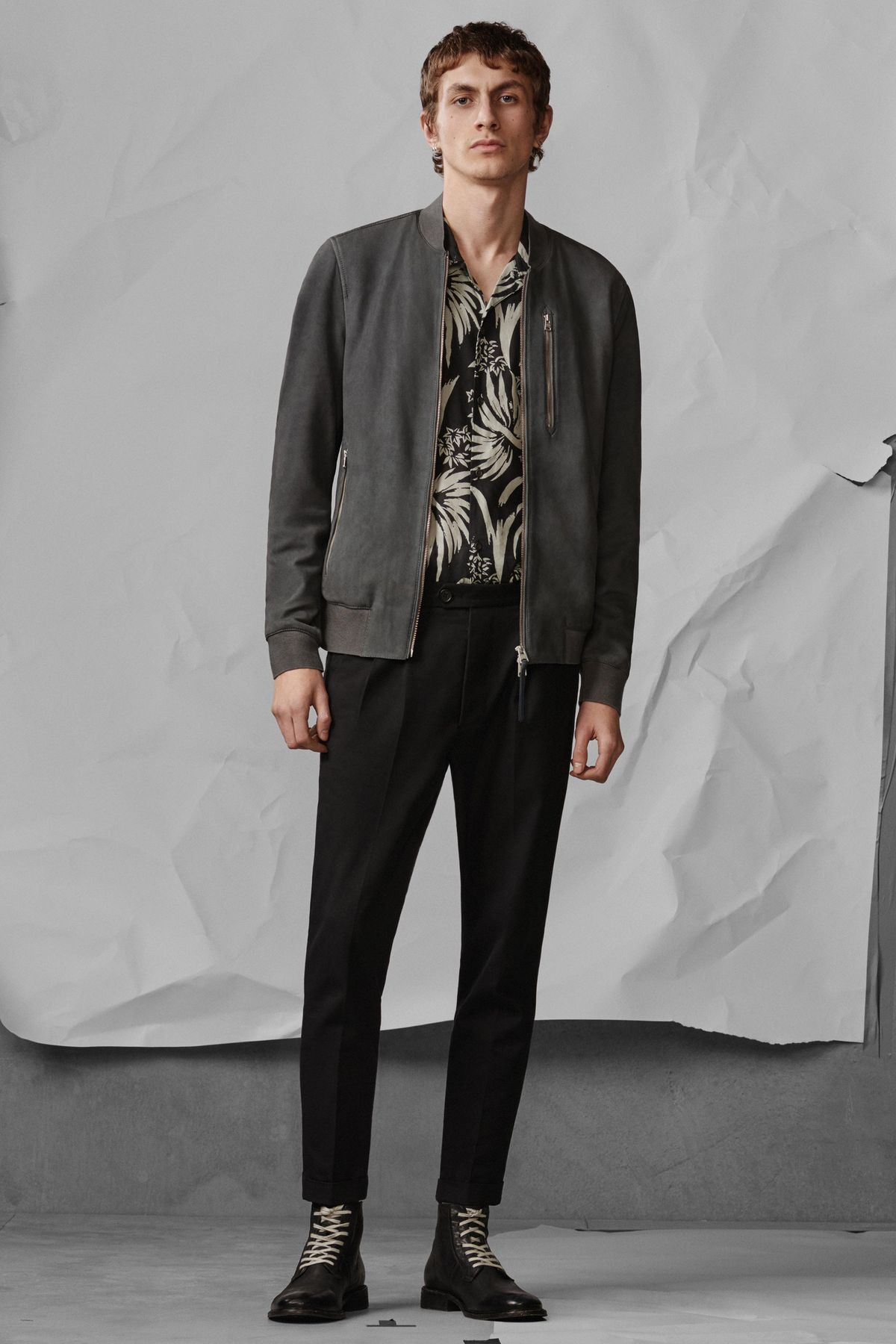 Konrad Bomber, N/A  Koloa Shirt , £85  Tallis Trouser , £108  Leven Boot , £168