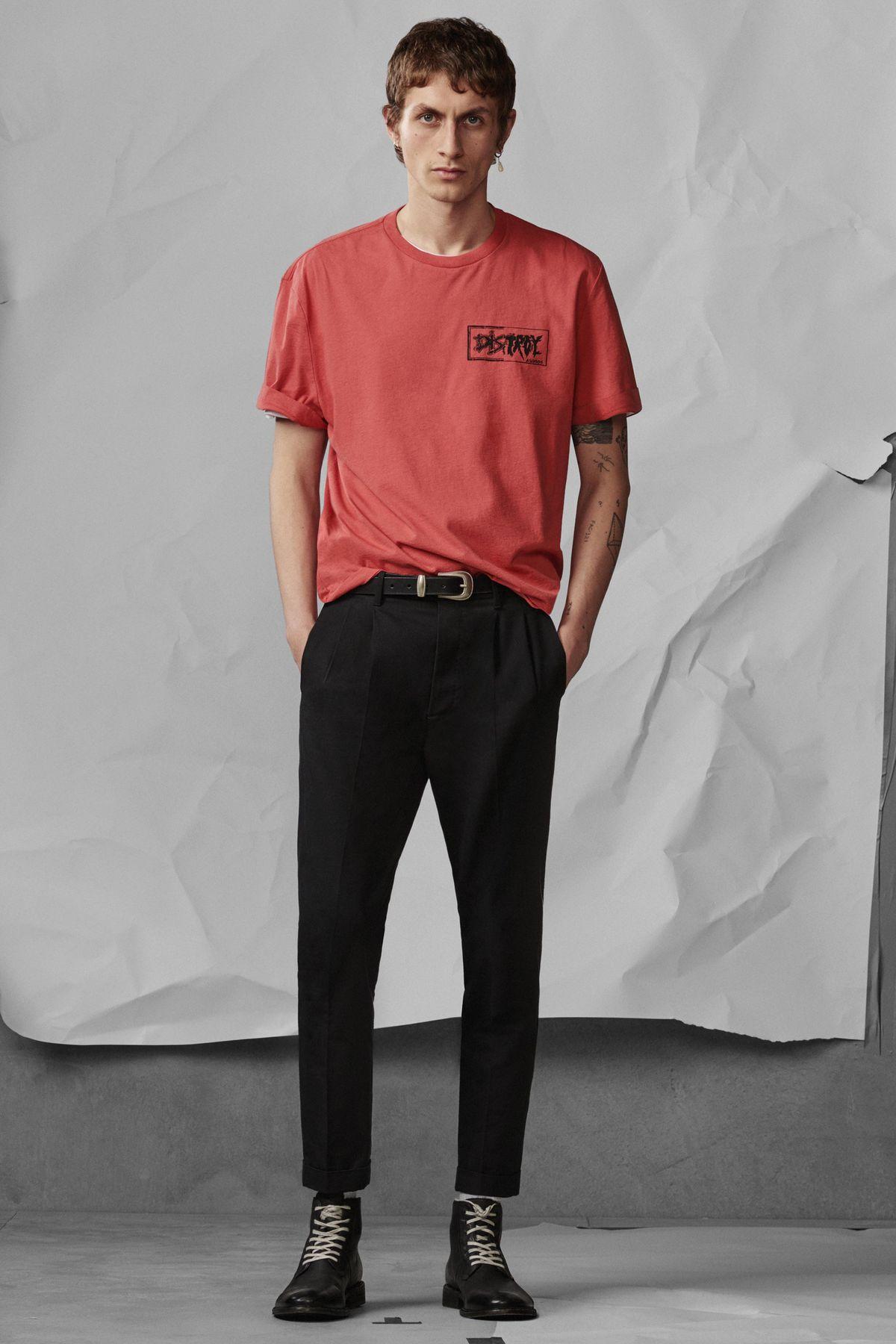 Distroy Crew T-Shirt , £45  Tallis Trouser , £108  Leven Boot , £168
