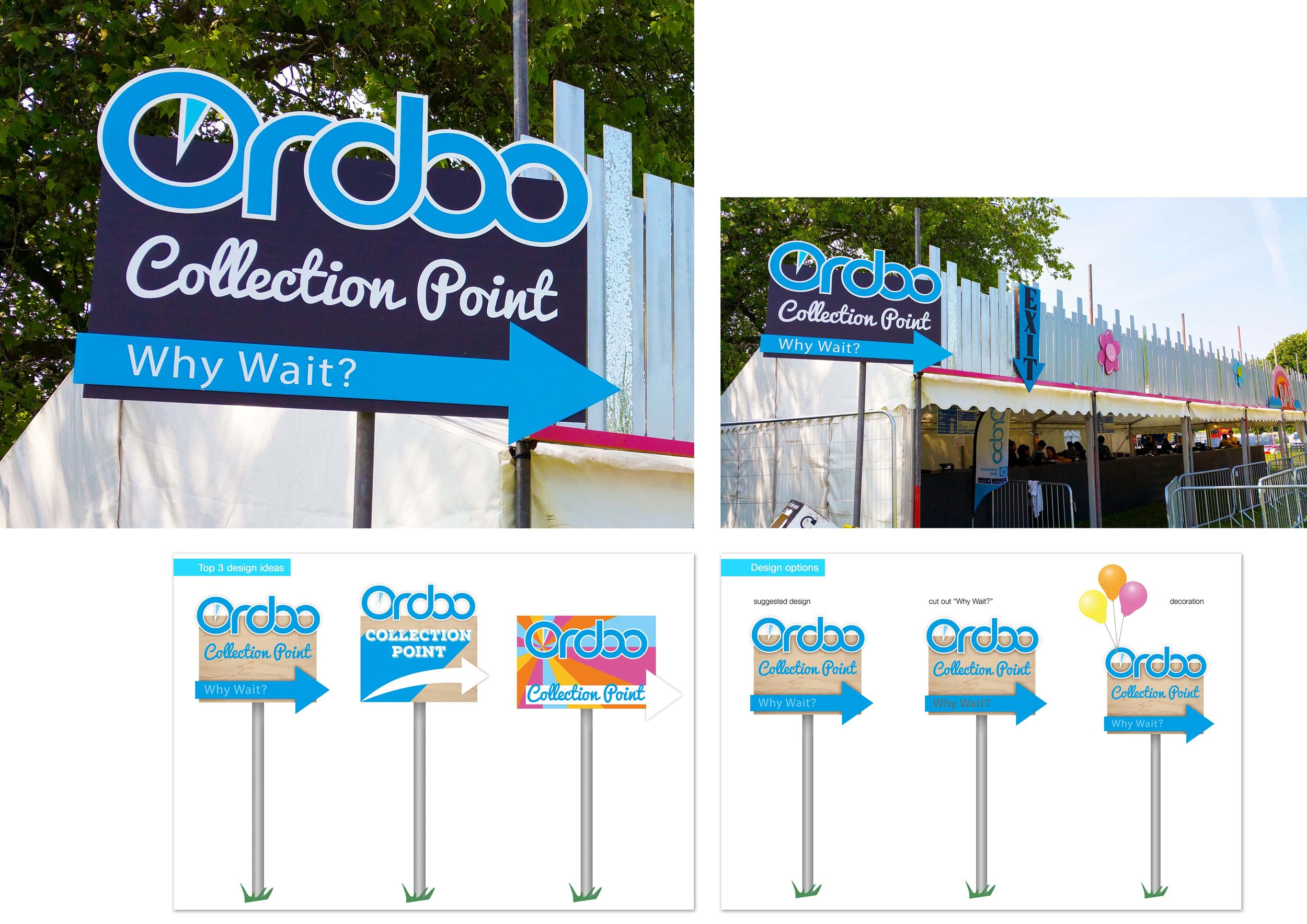 Ordoo collection point sign   for Love Saves The Day 2016