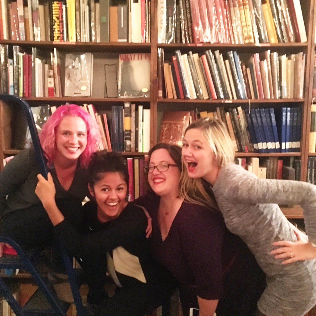With Kelly Jensen, Amanda Nelson, and Rebecca Schinsky -- some of my fav badass babes