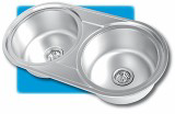 DOUBLE PREP -                   DOUBLE PREP BOWL REVERSIBLE 850X450 WITH 2 X 90mm WASTES              BOWL SIZE: 2 X 360 X 160            CUPBOARD SIZE : 800MM