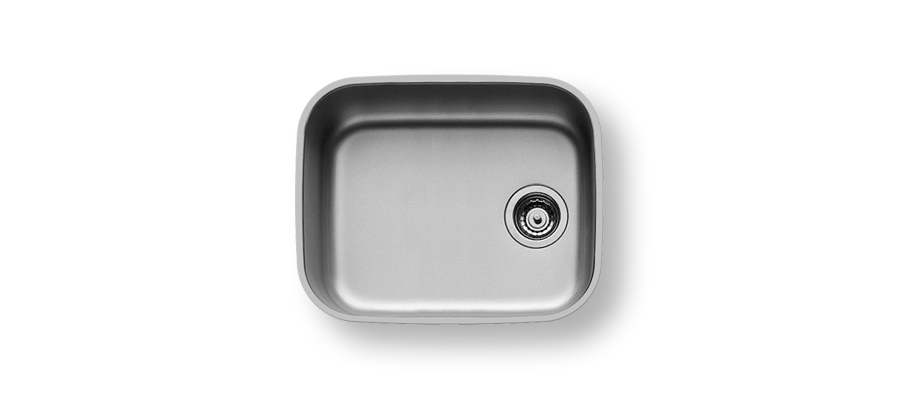 UM450 - UNDERMOUNT SINGLE BOWL 176 x 306 x130mmBOWL SIZE: 160x290x120mm                                 WITH 90mm WASTE FITTING