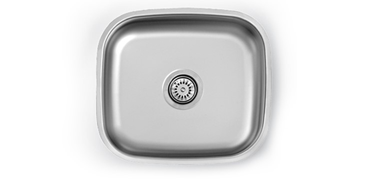 UM 500  - UNDERMOUNT BOWL500X450X190INCLUDING 90mm WASTEFITTINGSize:450x400x190 mm                       Thickness:0,80 mm                            Depth:190 mm                                  Finish:Satin