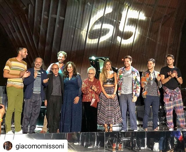 #Repost @giacomomissoni • • • • • Thank you all for making this day so memorable!! HAPPY BIRTHDAY @missoni 🧡🎂🖤 #missoni65 #MFW