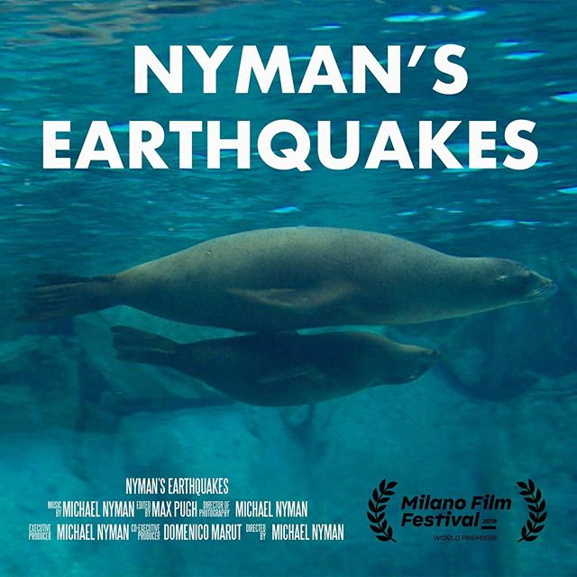 NYMAN'S EARTHQUAKES premiering this Sunday 6 October at the @milanofilmfestival, 19:30 @thespacecinema Milano Odeon