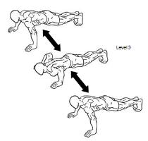 2: Stepping Push Ups - 10 Rep