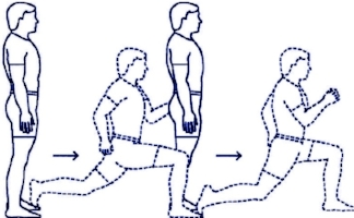 3: Lunge Back To Starting Position - 10 Lunges