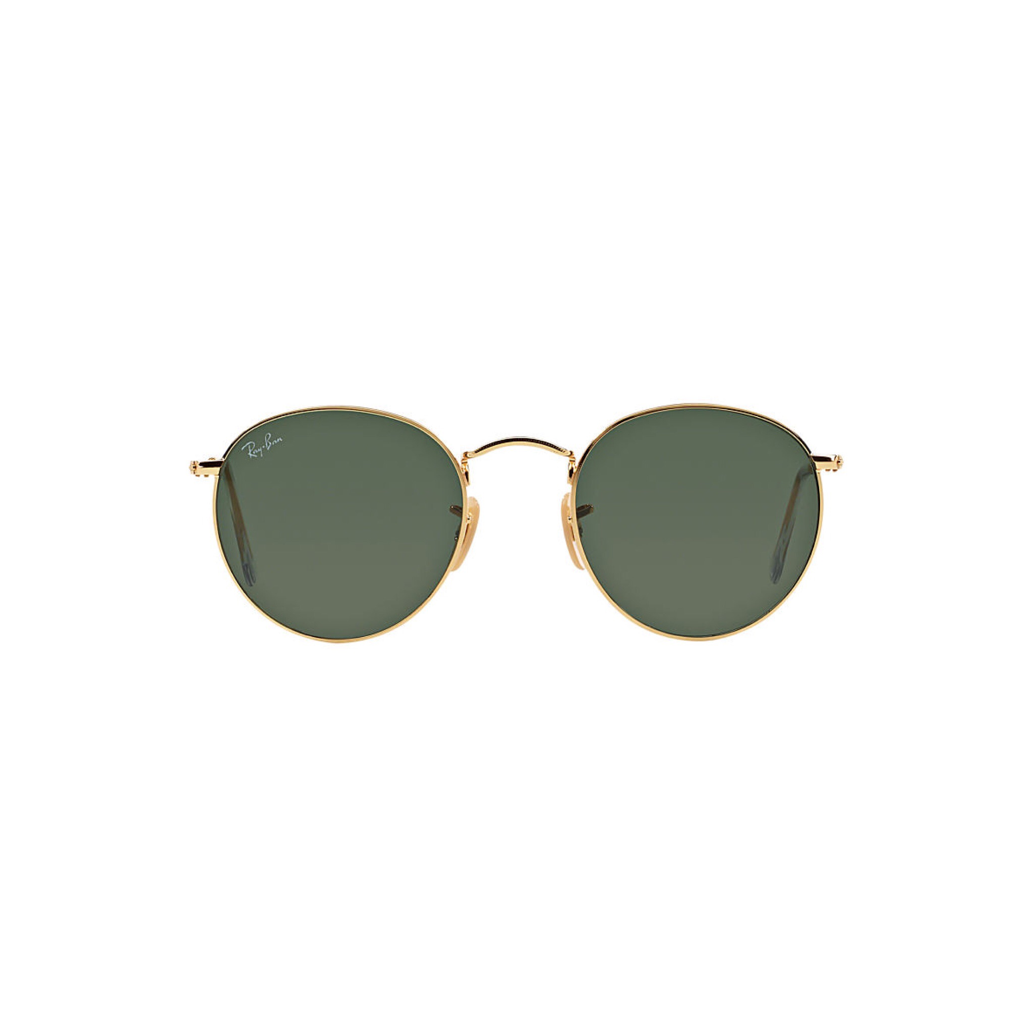 Raybans ... I tend to treat myself to a new pair of Raybans each summer. Currently loving these round gold specs.