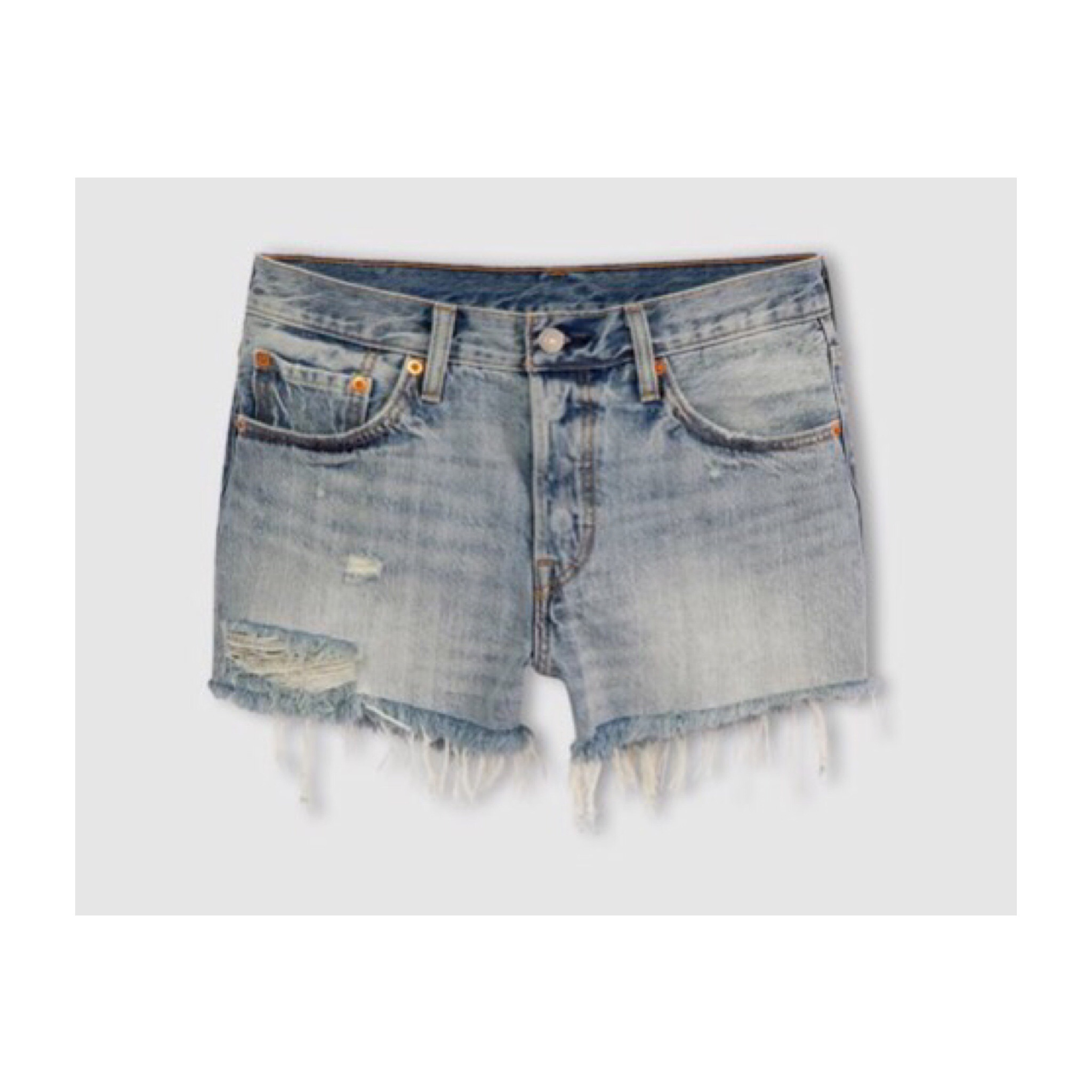 Levi's cut off shorts ... Denim shorts are a summer staple, these Levi denim shorts go with everything. I got mine from La Redoute.