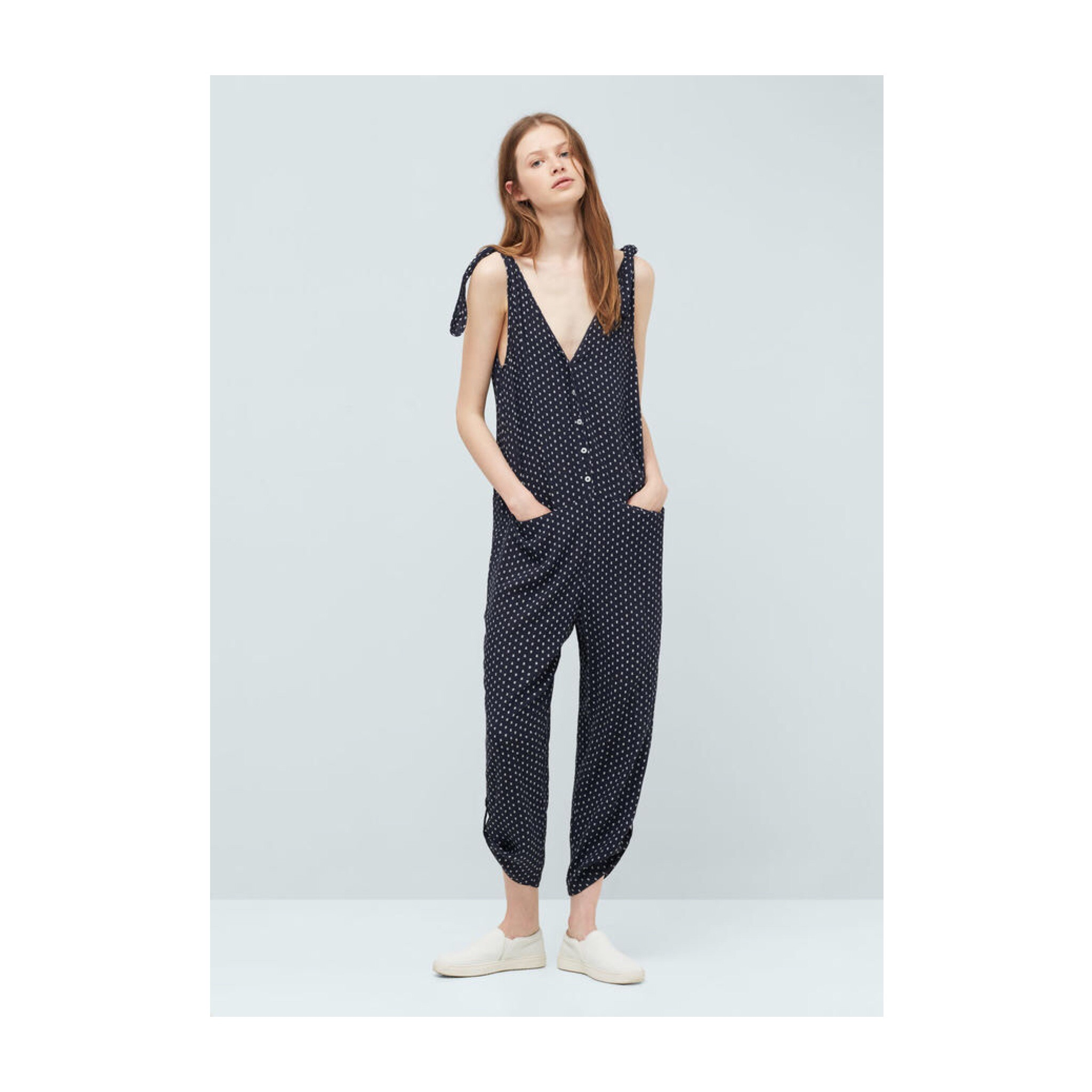 Mango Jumpsuit ... My top pick this summer, I am living in this lightweight jumpsuit from Mango. It's SO comfy!