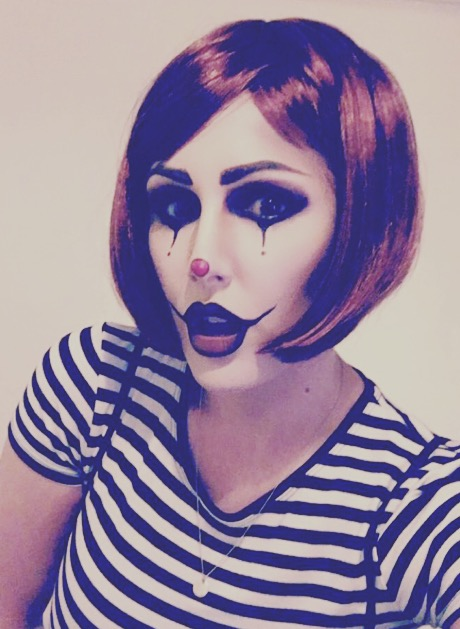 My scary clown / mime artist makeup 👻