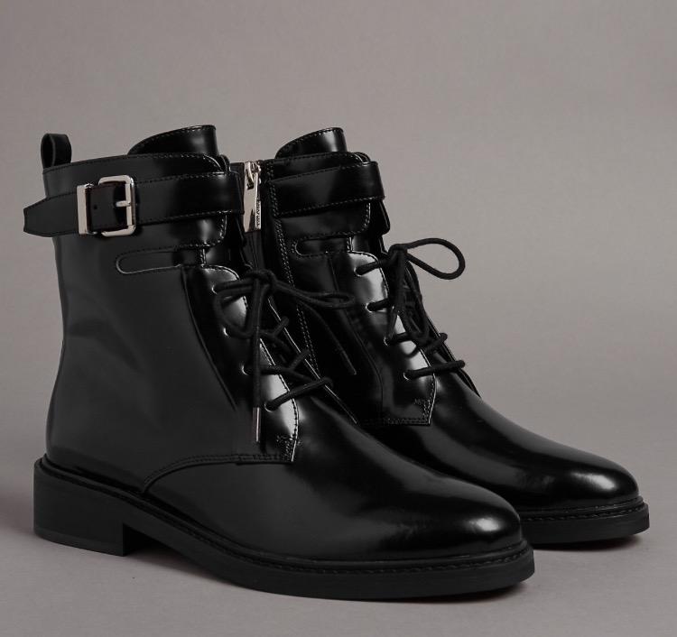 M&S  - Leather block heel - £85