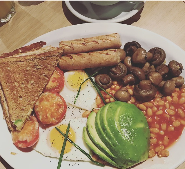 Cafe Monde's mammoth veggie breakfast.