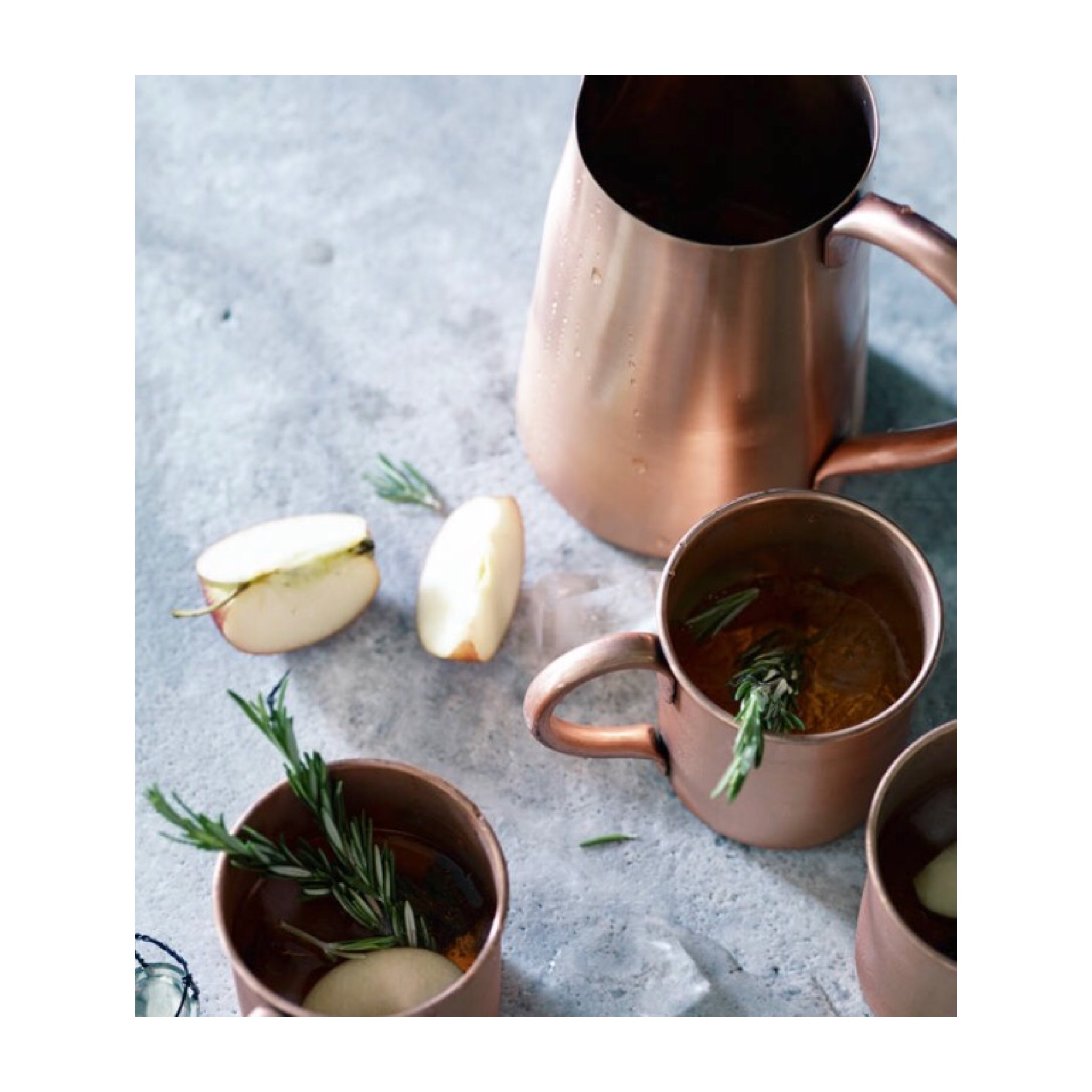 I LOVE these Rowen & Wren copper Moscow mule mugs from not on the high street £18 each