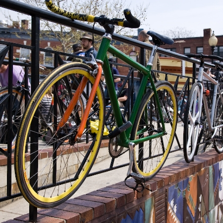 Bike exchange event at Lamont Park in Mount Pleasant.