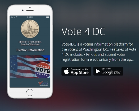The D.C. Board of Elections iPhone and Android app.