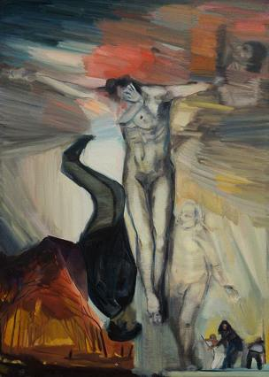 Below Between Above, Oil on Canvas, 106cm x 76cm Now resides in the Private Collection of Michael and Marilyn Reardon-Small