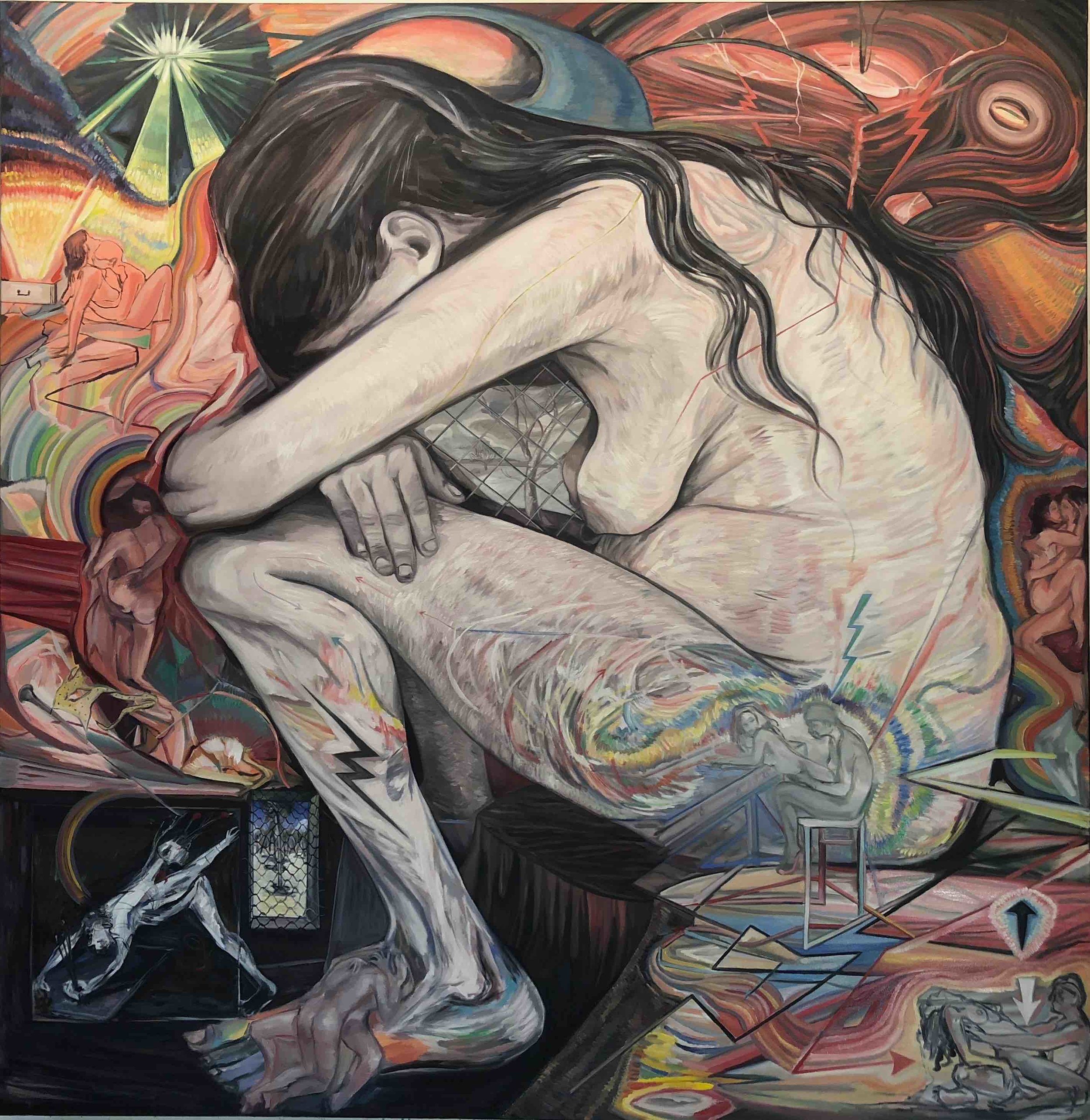 '#Sorrow', oil on canvas, 220cm x 214cm