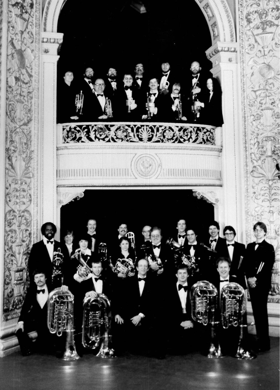 River City Brass Band with founder and conductor Robert Bernat