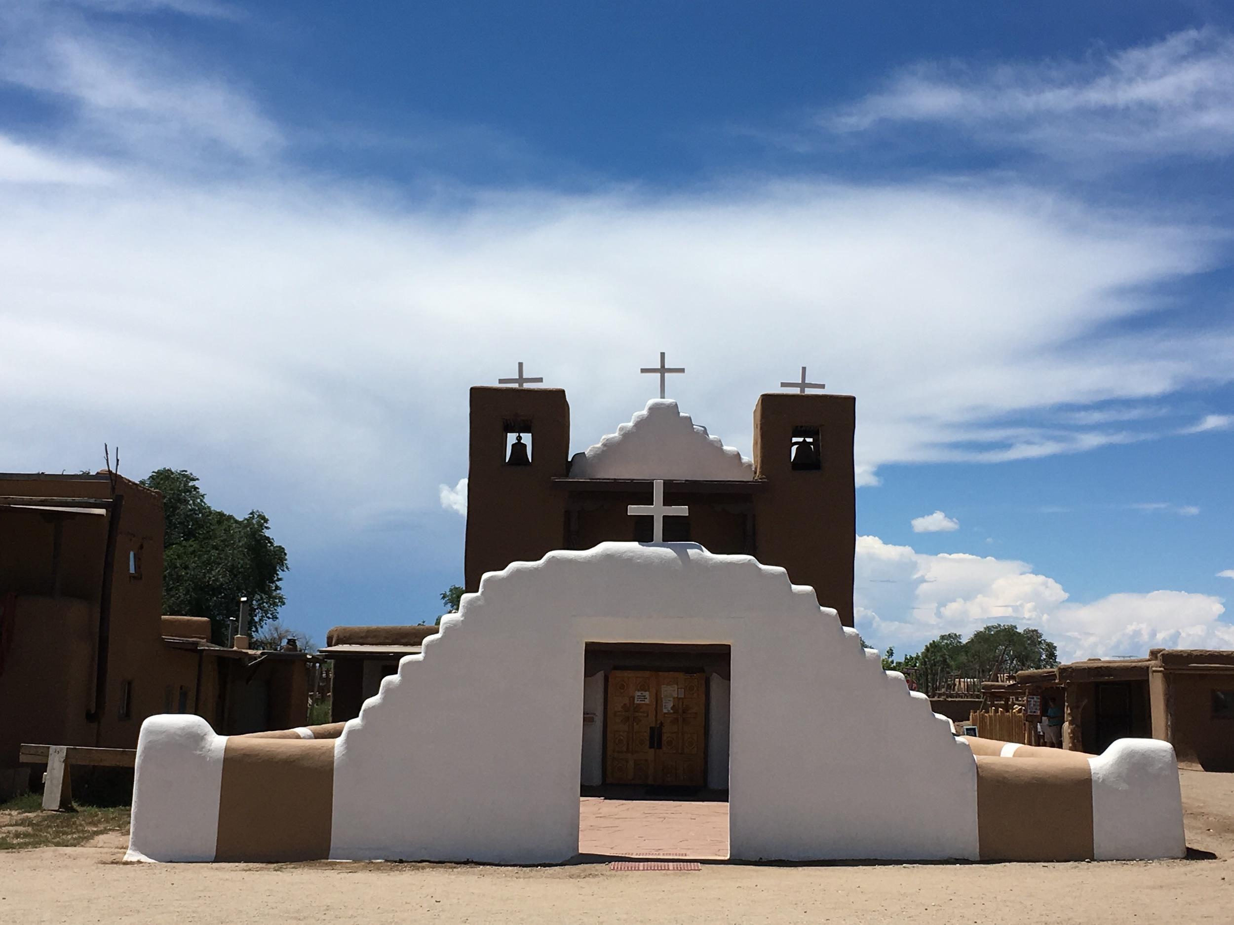 New church at Taos Pueblo