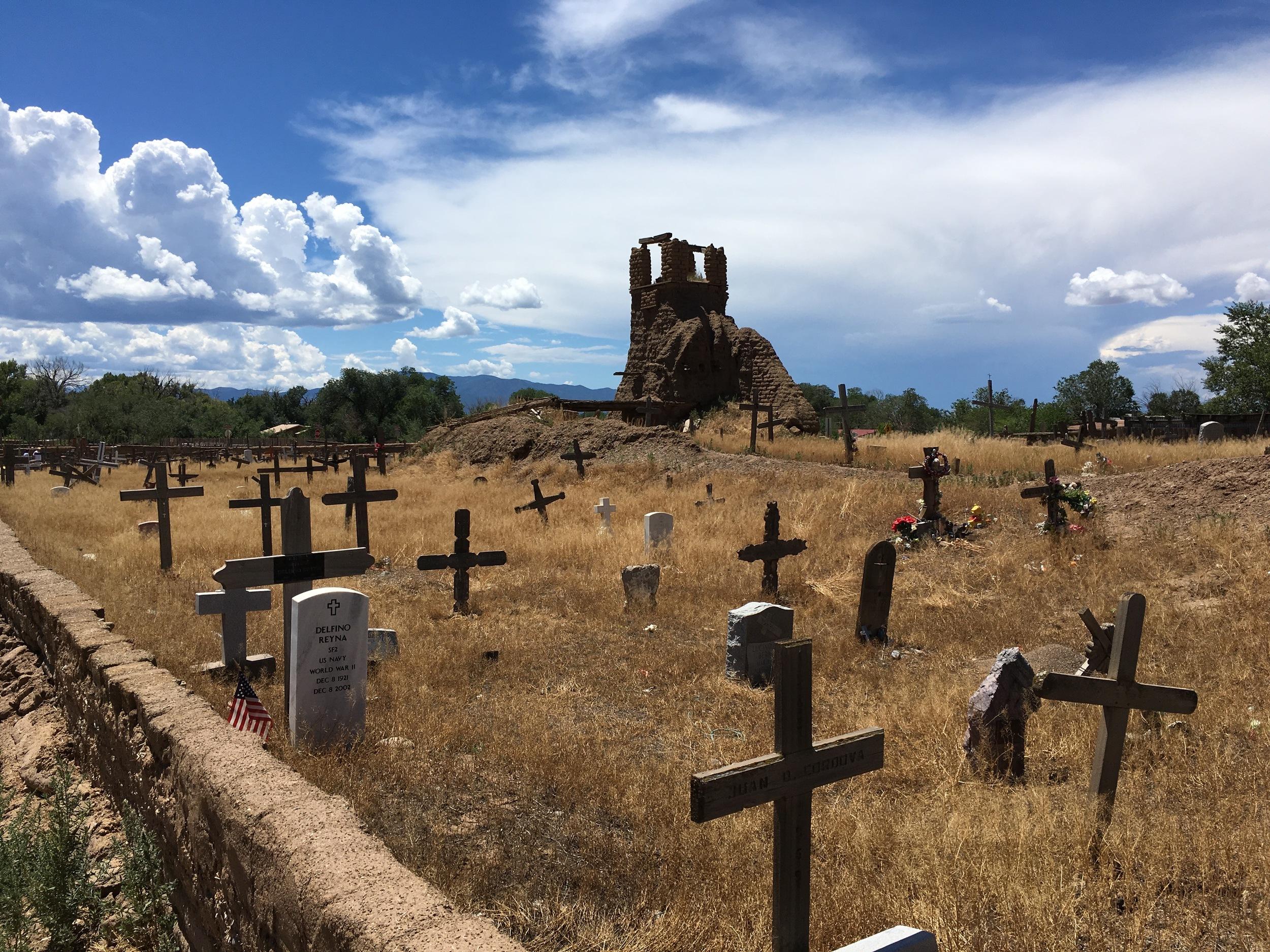 San Geronimo de Taos, destroyed in 1847 by U.S. troops