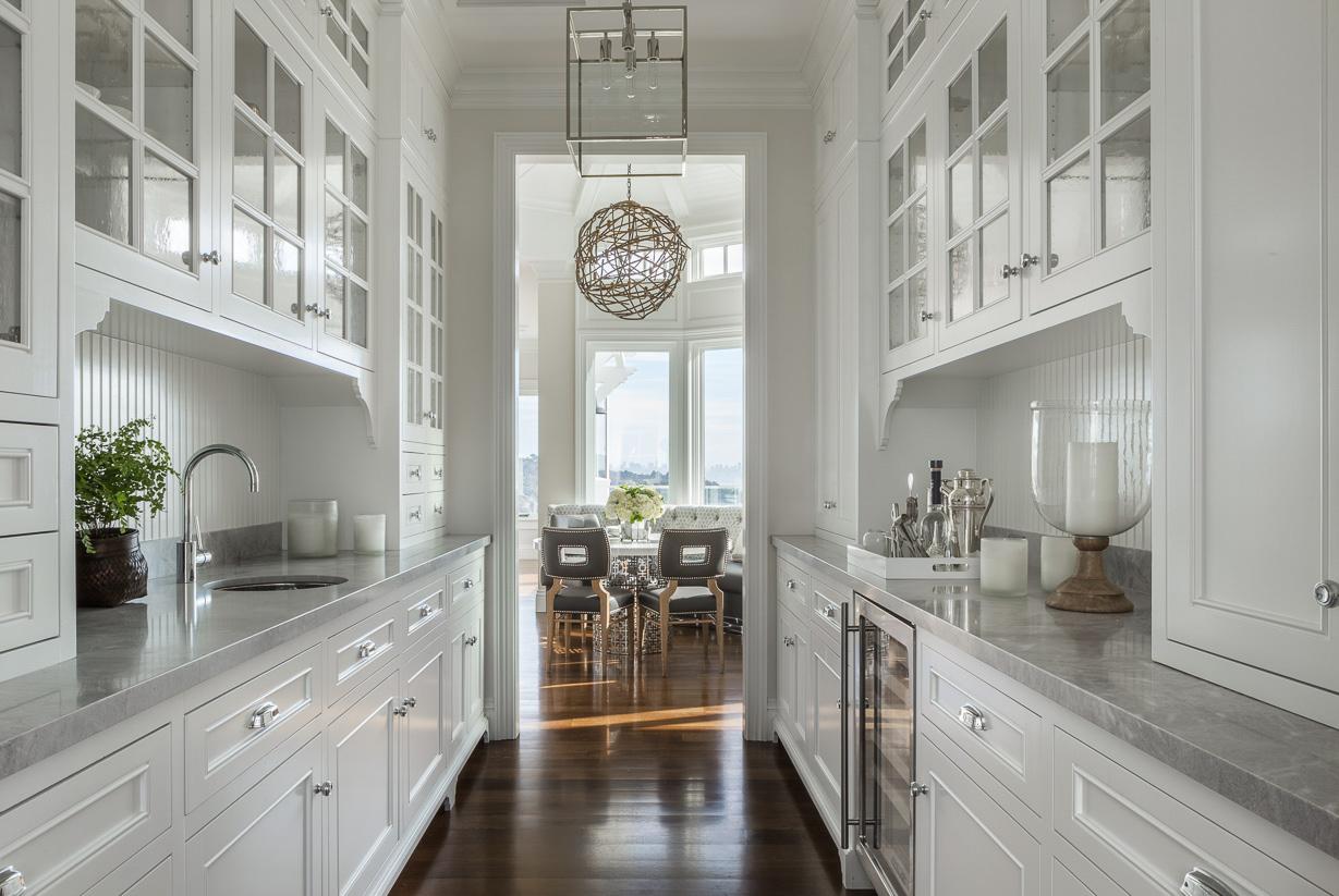 white butler's pantry
