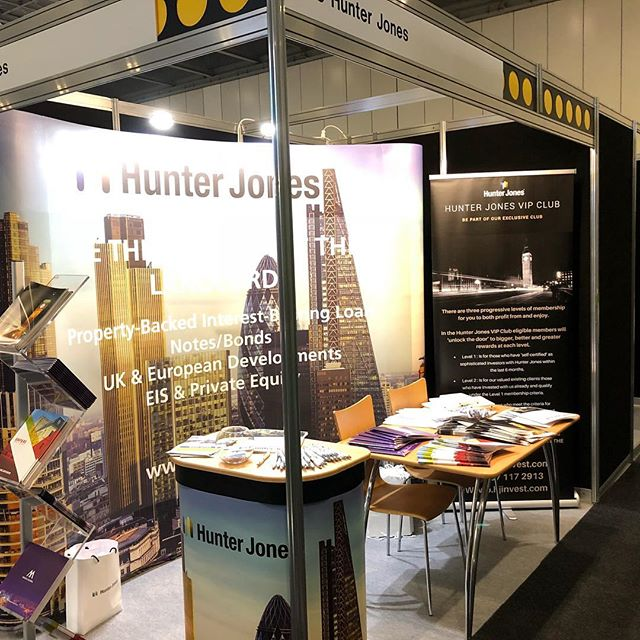 Hunter Jones stand at the Property Investor Show. Lots of hard work.