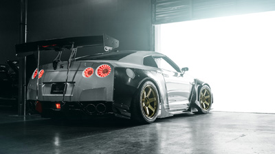 GTR ready to leave garage