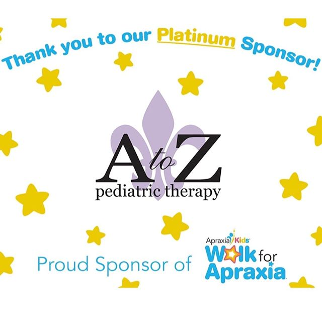 We are so VERY excited to sponsor the Atlanta Walk for Apraxia!  Apraxia Kids does so much to spread awareness, educate, and promote research on Childhood Apraxia of Speech.  We would love to see you there!!!