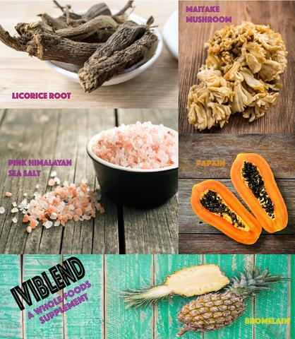 Just some of the ingredients used to make Iviblend supplement