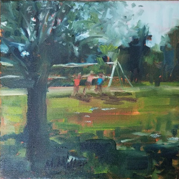 """Volley - Oil - 10"""" x 10"""""""